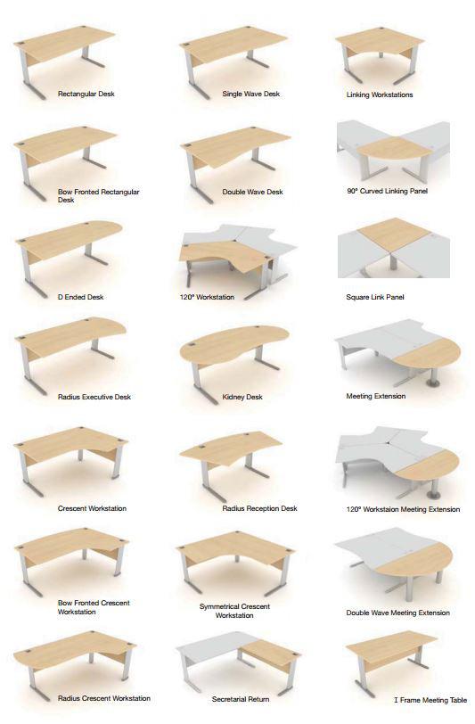 TAG desk shapes