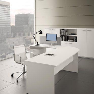 Italian Slab Ended Desk