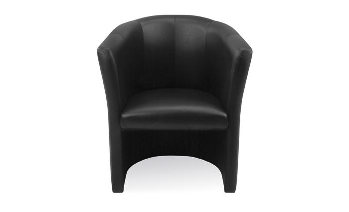 Cuba Black Leather Tub Chair