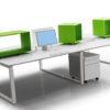 Italian 4 Person Bench Desk
