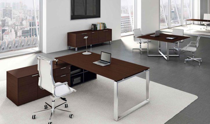 Loop Veneered Italian Executive Desk
