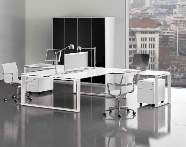 Loop Italian 2 Person Bench Desk