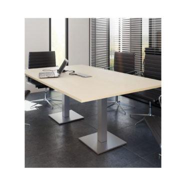 Optus Square Column Rectangular Boardroom Table