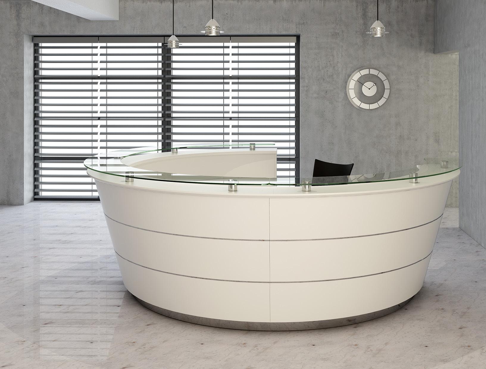 Pinnacle Bespoke Veneer Reception Desk