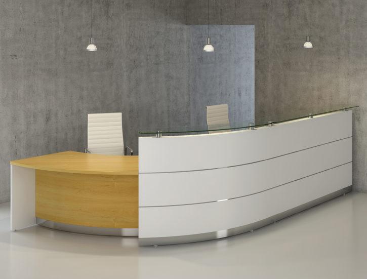 Premier 2 Person Curved Reception Desk