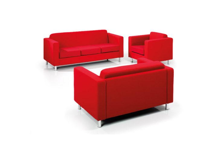 Ritz Red Reception Sofa Range
