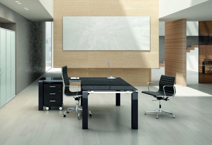 Saint Evo Glossy Italian Exec Desk