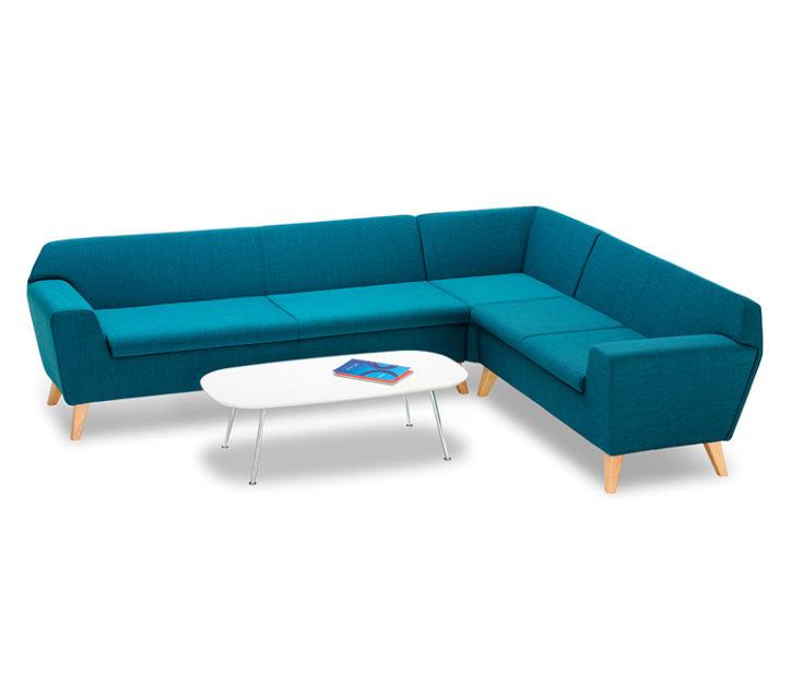Zone Corner Reception Sofa with Table
