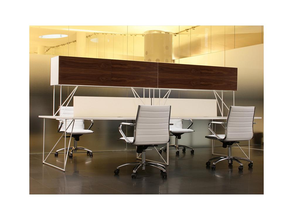 Breeze Slimline Bench Desk White Office Desk Tag Office