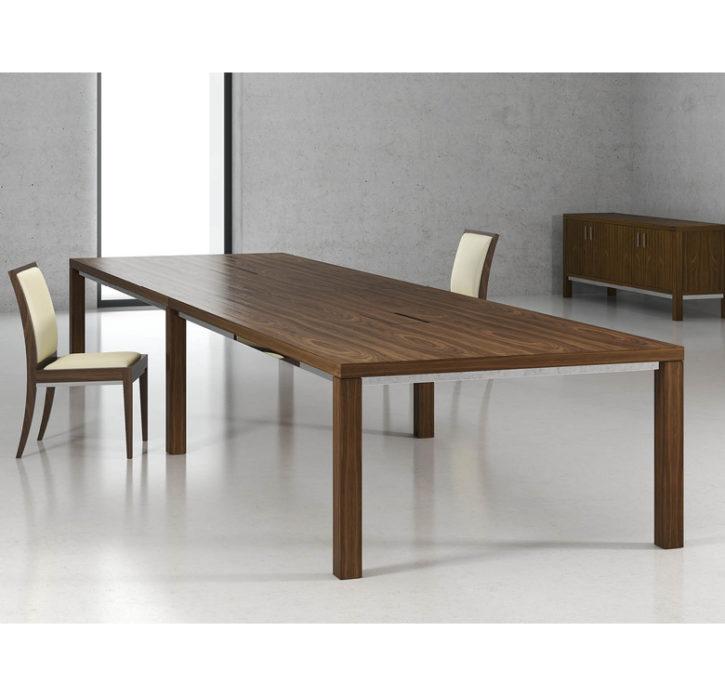 Cambridge Walnut Rectangular Boardroom Table main