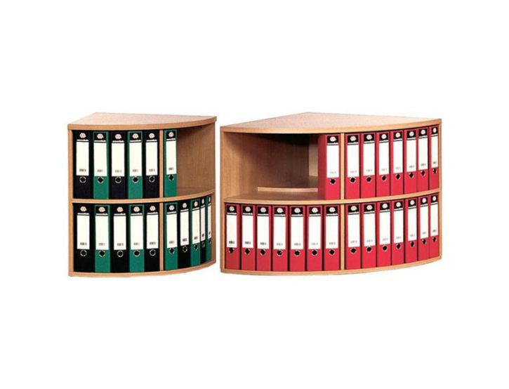 Curvlit Corner Office Bookcase