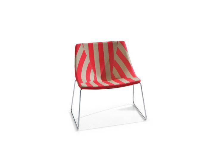 Ellipse Stripey Lounge Chair
