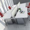 Sliding top bench desk