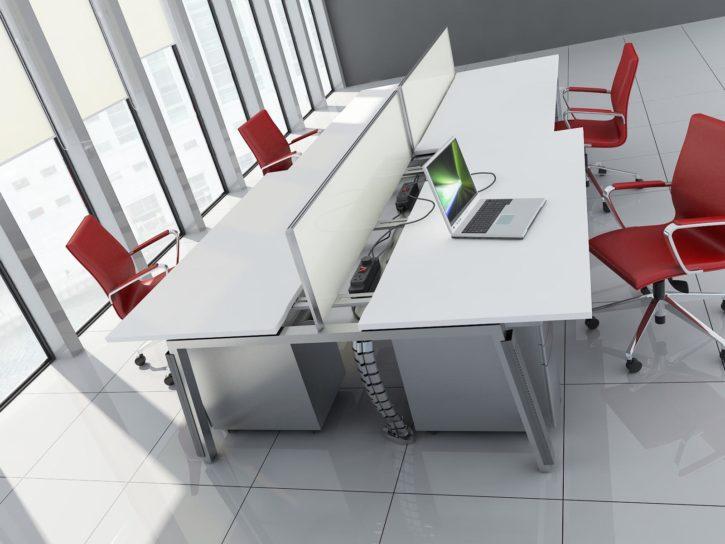 Inline Sliding Top Bench Desk