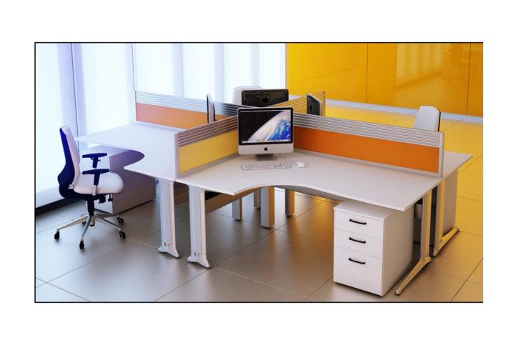 Kassina 4 Person Cluster Desk