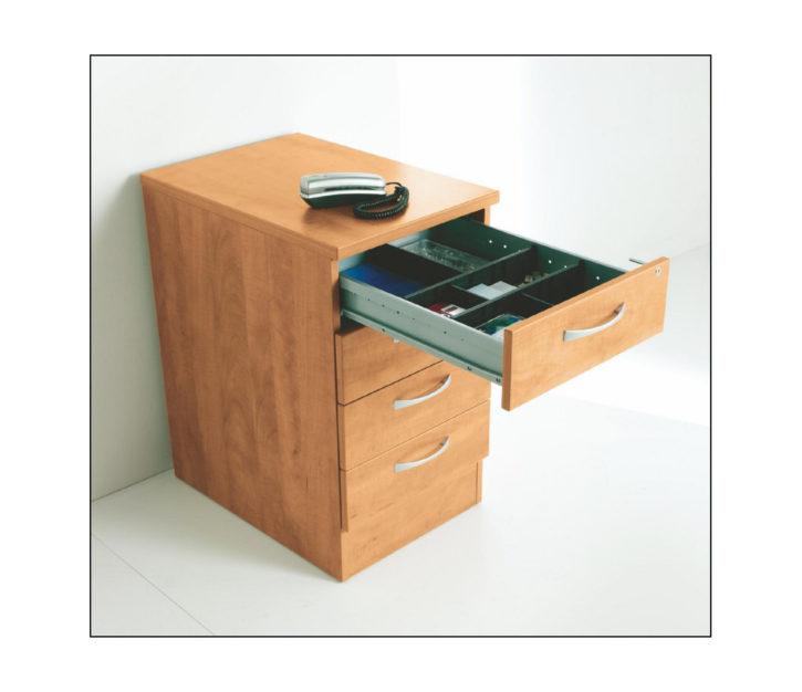 Lockit 3 Drawer Pedestal with Stationary Drawer