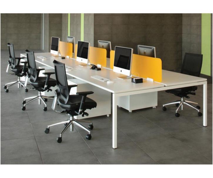 Nova 6 Person Office Bench Desk