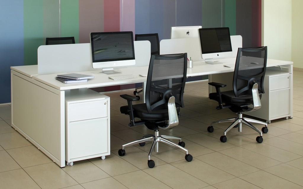 Nova 2 Person Office Bench Desk Tag Office