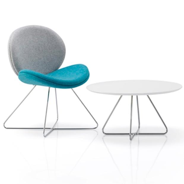Petal White Round Coffee Table