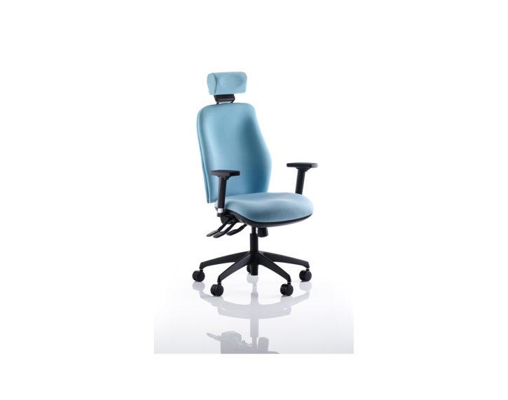 React Deluxe High Back Ergonomic Chair Aqua
