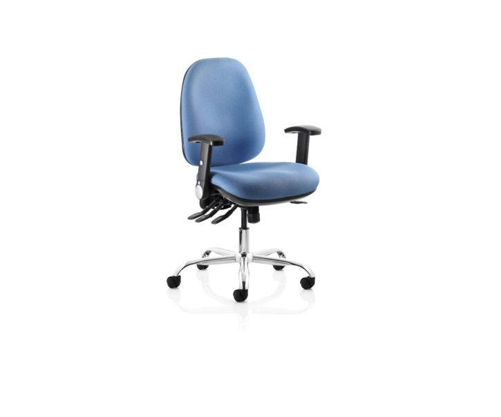React Ergonomic Operator Chair Silver Frame