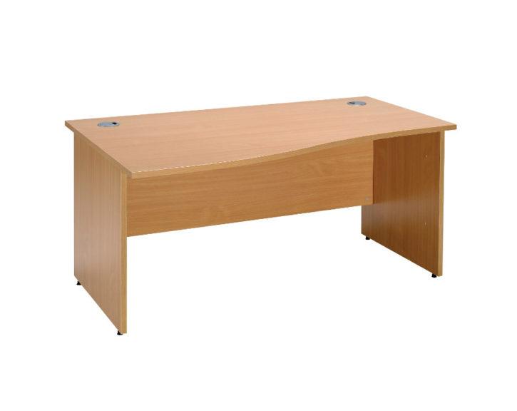 Seathree Single Wave Slab End Desk