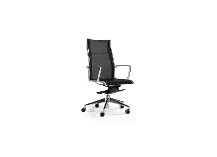 Sky High Back Black Mesh Executive Chair