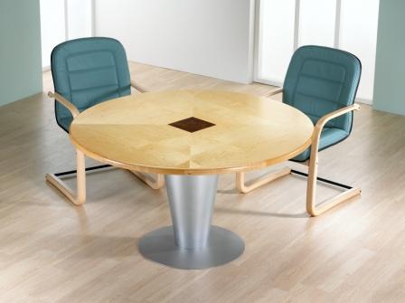 Smooth Circular Meeting Table