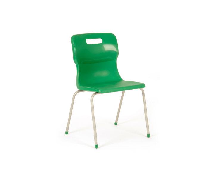 Titus Four Leg Classroom Chair Green