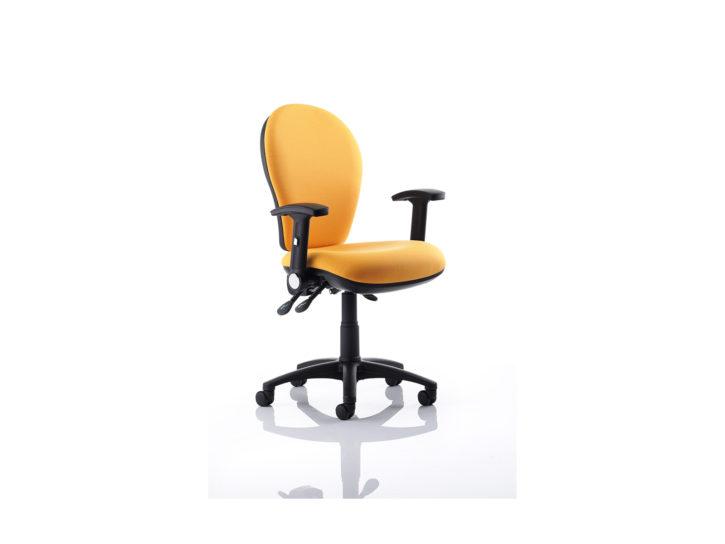 Urbane Yellow Task Chair Black Frame