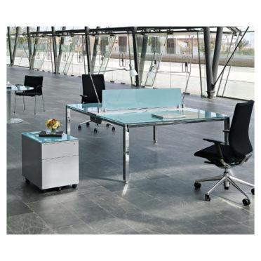 Glass Bench Desk