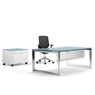 Rectangular Glass Exective Desk