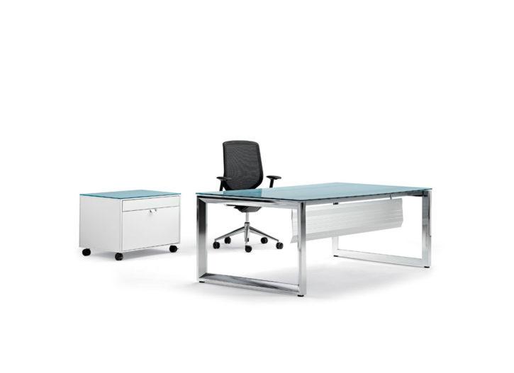 Vitalis Rectangular Glass Exective Desk
