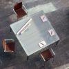 Vitalis Square Glass Meeting Table
