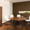Zephyr Walnut Circular Meeting Table