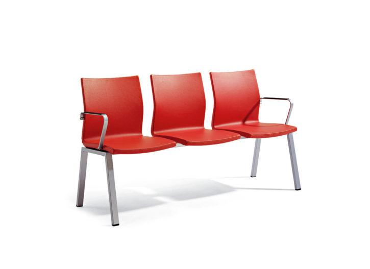 Zuma Three Seat Bench Waiting Chair