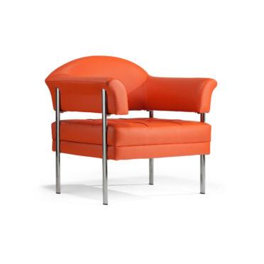 Orange Leather Armchair