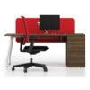Desk with Walnut Pedestal