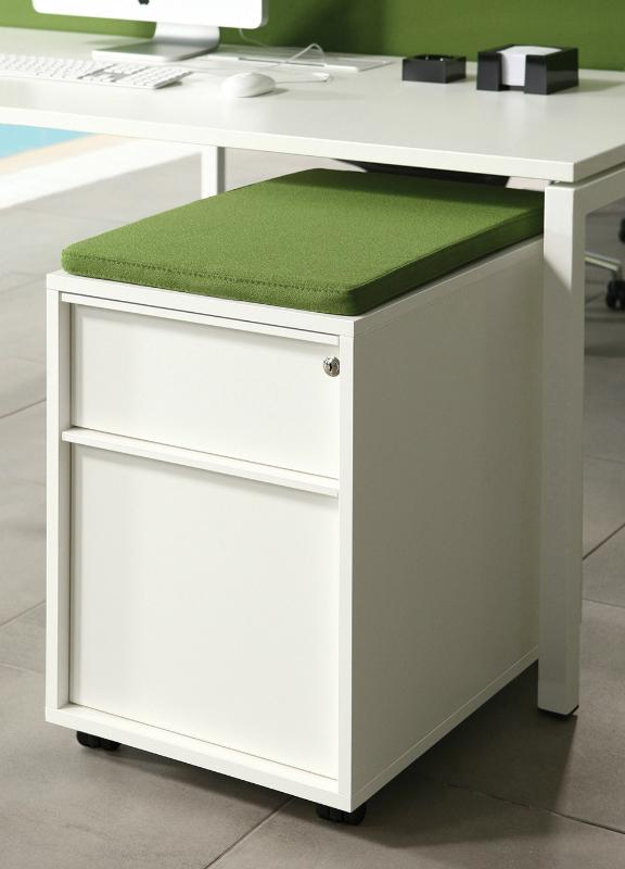 Nova 2 drawer pedestal with cushion