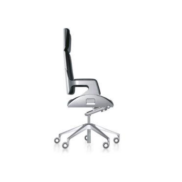 High Back Silver Executive Chair