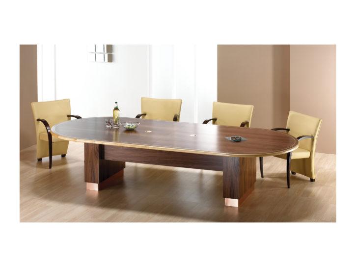 Nimbus curved Walnut Boardroom Table