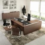 Veneered Italian Executive Desk with Return