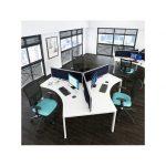 White Cluster Desk