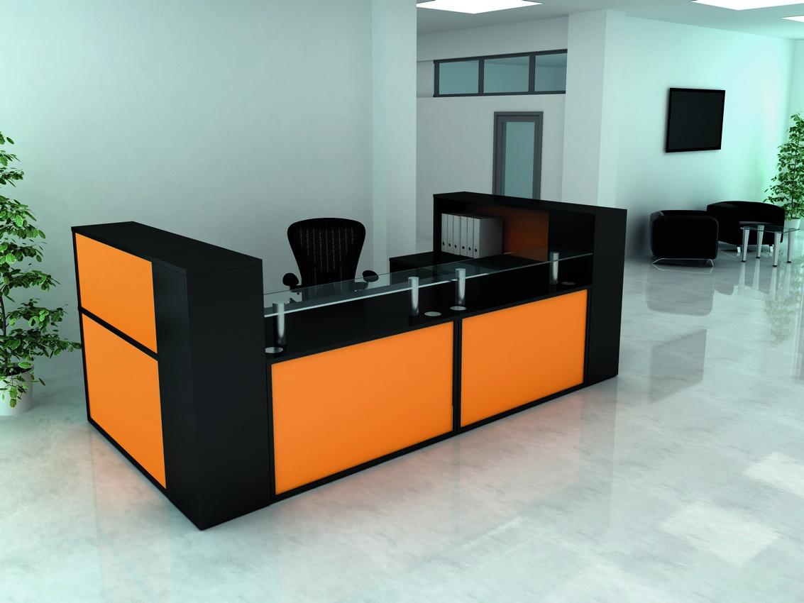 Colorful Reception Desk