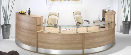 Modular Curved Reception Desk