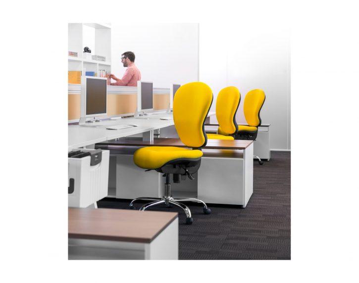 Yellow Ergonomic Task Chair