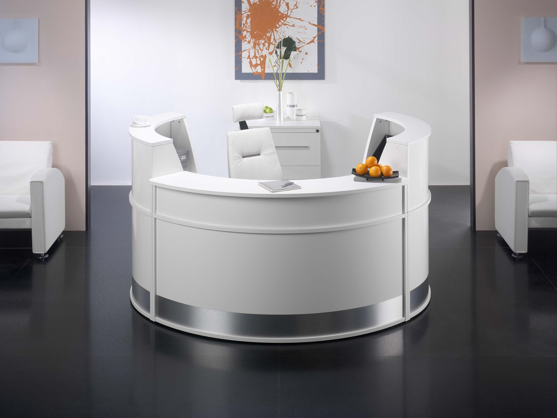 Uniflow Small Circular Reception Desk Modern And Stylish