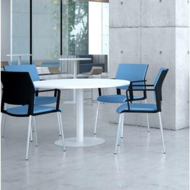 Circular Sit-Stand Meeting Table
