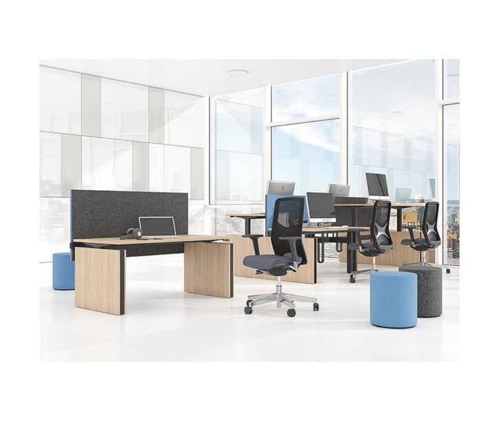 Motion Panel End Sit-Stand Desk