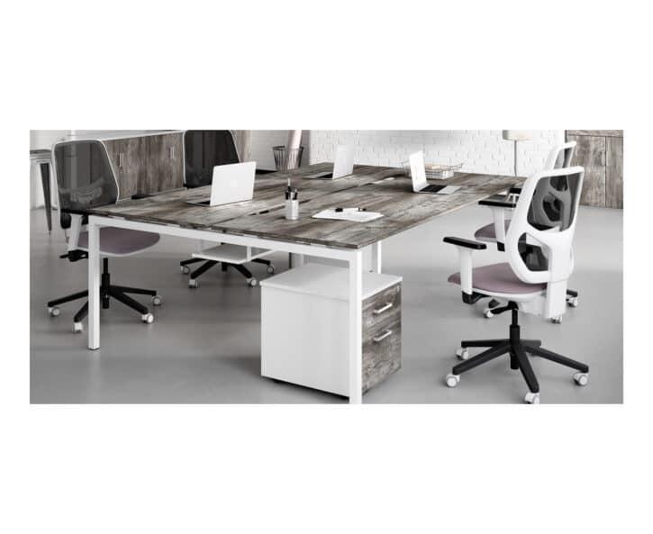 Urban office bench desk